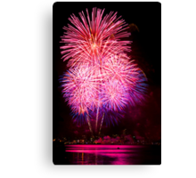 Blossom Bursts - Sydney Harbour - New Years Eve - Midnight Fireworks  Canvas Print