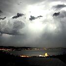 Sheet Lightning - Hobart 31.12.09  by Anthony Davey