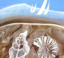 The Geology of Boating - Rangitoto - Acrylic by Patricia Howitt