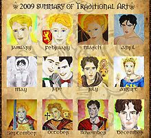 2009 Summary of Traditional Art Meme by Rowan  Lewgalon