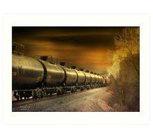 """ Mirrored Tanker "" Art Print"
