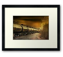""" Mirrored Tanker "" Framed Print"