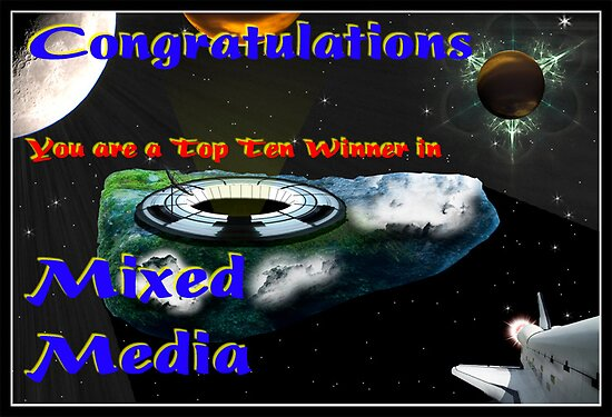 Mixed Media Top Ten Banner by David's Photoshop
