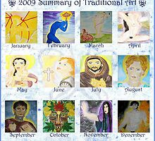 2009 Summary of Traditional Art by TriciaDanby