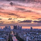 Red Sky Over Paris - Landscape by Paul Thompson Photography