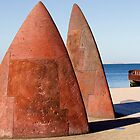 Sail the Bay - Geelong foreshore on Corio Bay by Rhonda F.  Taylor