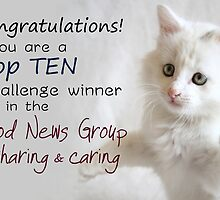 Top Ten Banner for the Good News Group ~Sharing and Caring by RebeccaDaisey