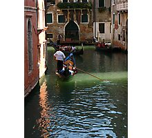 Romantic Gondola in Venice Photographic Print