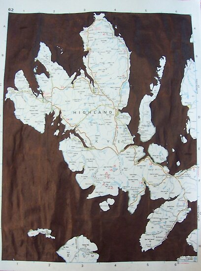 Skye Map by Louise Norman