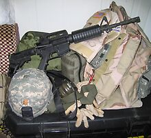 Soldier's Gear at Ready by Vicki Hudson