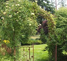 Evergreen Arboretum Iron Gate by Edith Farrell