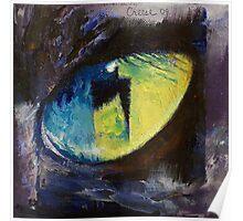 Blue Cat Eye Poster