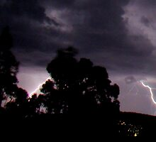 Lightning Over Hobart by Greg Reynolds