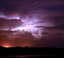 Lightning bolt over Broome by adouglas
