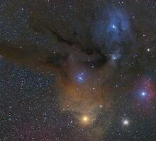 Antares and Rho Ophiuchi region nebulae by Igor Chekalin