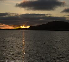 Sunrise Over Sumburgh Head,Taken From The Ness Of Burgi,Virkie,Shetland. by Gary Buchan