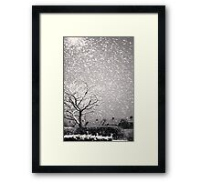 Snowstorm, Newcastle Framed Print