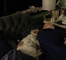 Skye snuggling 'Daddy' by Songwriter