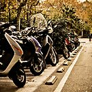 Bikes in Barcelona by JulieDanielle