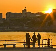 Sunset Plymouth by DIANE  FIFIELD