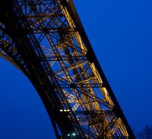 Eiffel tower at sunset by david marshall