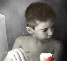 Boy & Apple II by dmcart