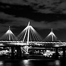 """The Night Bridge Across The Thames"" by Bradley Shawn  Rabon"