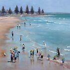School children on the beach by Mick Kupresanin