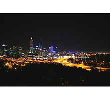 City Lights - Perth, Western Australia Photographic Print