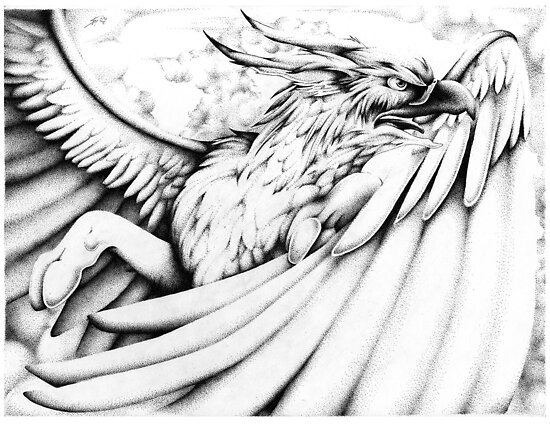 Stipple Gryph by Sarah McNulty