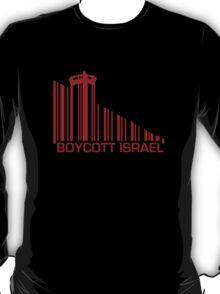Boycott Israel (wall version) RED T-Shirt