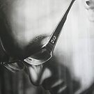 'Life of Byron'   DETAIL  Charcoal and Acrylic on Stretched Canvas by Warren Haney