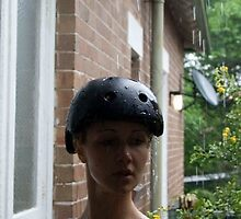 Rain on your helmut by Amy Hibbard