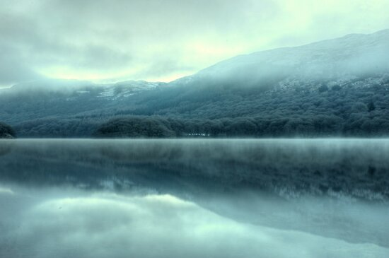 Mist on Coniston Water by VoluntaryRanger