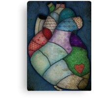 What Heart Are you? - No. 2: Patchwork Heart Canvas Print