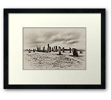 Ancient Callanish Standing Stones Framed Print