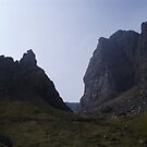 Rocks near the Old Man of Storr, Skye by Louise Norman