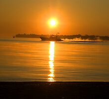 Lake Huron Sunrise by cherylc1