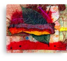 Leaf Skeleton Collage Canvas Print