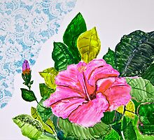 Hibiscus and Lace by henrytheartist