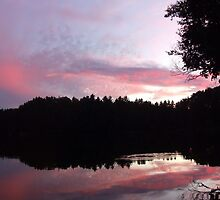 Sunset over Lac Corbeau by Max Buchheit