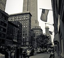 NYC - Empire State Building & The Stars & Stripes by Spoungeworthy