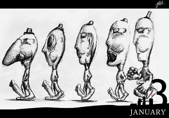 January 3rd - The Five by 365 Notepads -  School of Faces