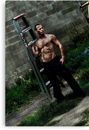 Damien With Ladder 2 by Tony Lin