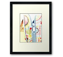 Unzipped and Empty Framed Print