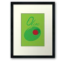 Olive Framed Print