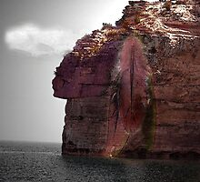 Indian Face Rock by mark4321