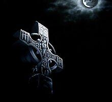 Celtic Cross In The Moonlight by Dorothy Fletcher