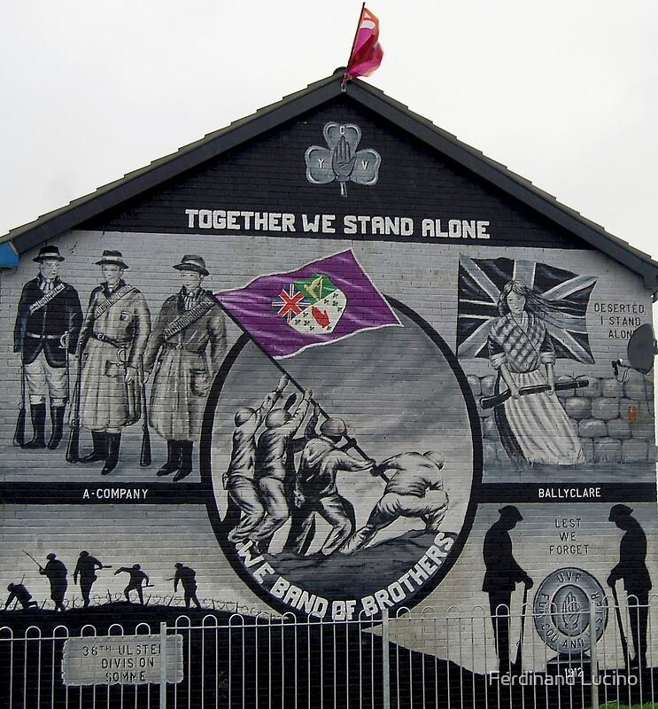 Ulster murals ballyclare northern ireland by ferdinand for Mural northern ireland