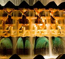 Pineapple Fountain at Night by Peter Van Egmond